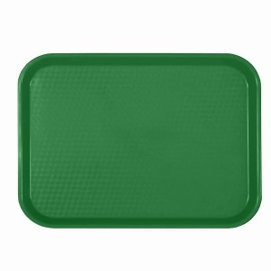 PLFFT1418GR-  FAST FOOD TRAY, RECTANGULAR, PLASTIC, GREEN