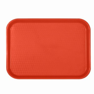 PLFFT1418RD- FAST FOOD TRAY, RECTANGULAR, PLASTIC, RED