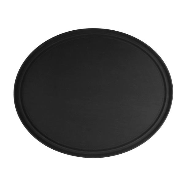 PLFT2700BK-OVAL TRAY, BLACK, FIBERGLASS