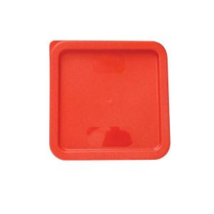 PLSFT0608C- PLASTIC SQUARE LID FOR 6 QT & 8 QT, RED