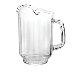PLWP032CL-THREE SPOUT WATER PITCHER, POLYCARBONATE, CLEAR