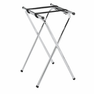 SLTS002- DOUBLE BAR CHROME PLATED TRAY STAND