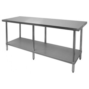 SLWT42484F - STAINLESS STEEL WORKTABLE, FLAT TOP