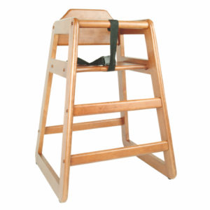 WDTHHC019 - WALNUT FINISH WOOD HIGH CHAIR, K.D.